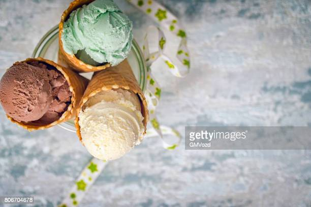 Helado de vainilla, Chocolate y pistacho