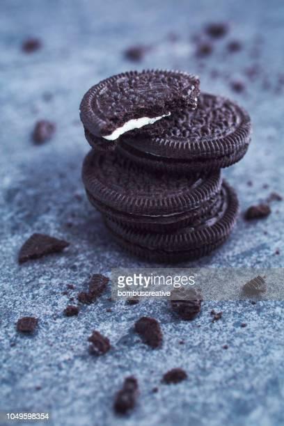 Vanilla Cream Filled Chocolate Cookies