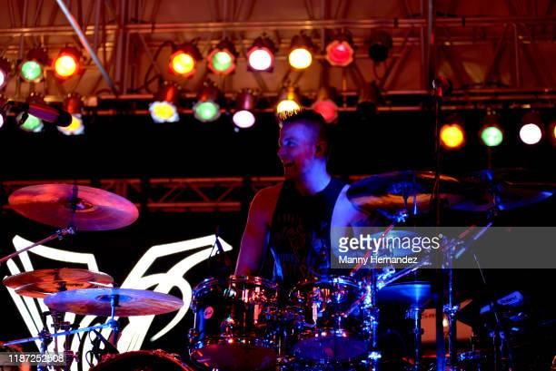 Vanilla Ice drummer Trent Laugerman performance at Mega Beer and 90s Music Festival at Magic City Casino on November 9th 2019 in Miami FL