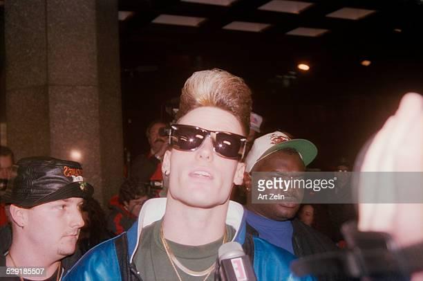 Vanilla Ice in sunglasses circa 1990 New York