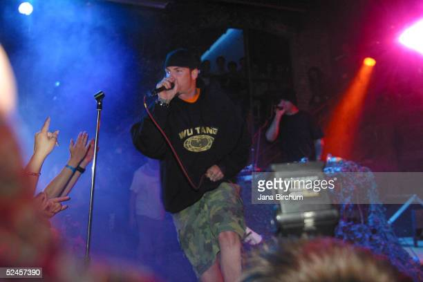 Vanilla Ice performs during the 2005 South By South West Music Festival March 19 2005 at Cedar Street Bar in Austin Texas