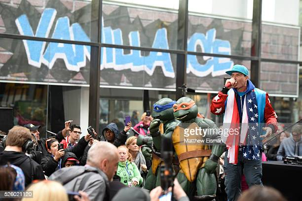 Vanilla Ice performs live on stage for NBC's Today at Rockefeller Plaza on April 29 2016 in New York City