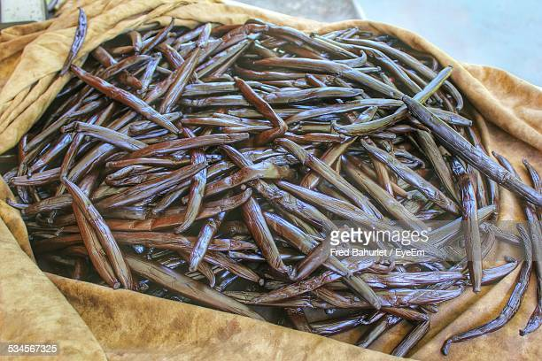 Vanilla Pods On Cloth