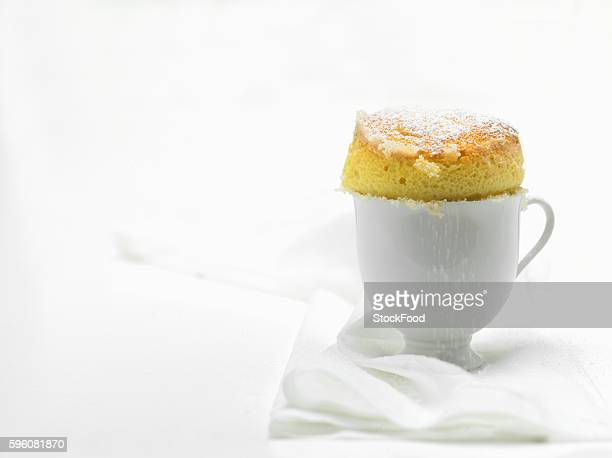 Vanilla soufflé with icing sugar