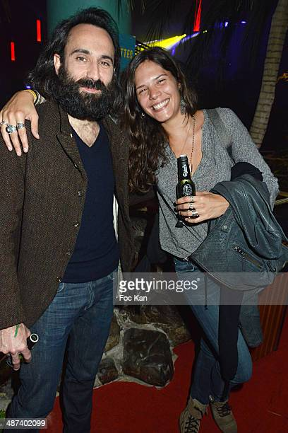 Vanille Clerc and a guest attend the Carlsberg's Suite Party At 20 rue Du Colonel Pierre Avia on April 29 2014 in Paris France