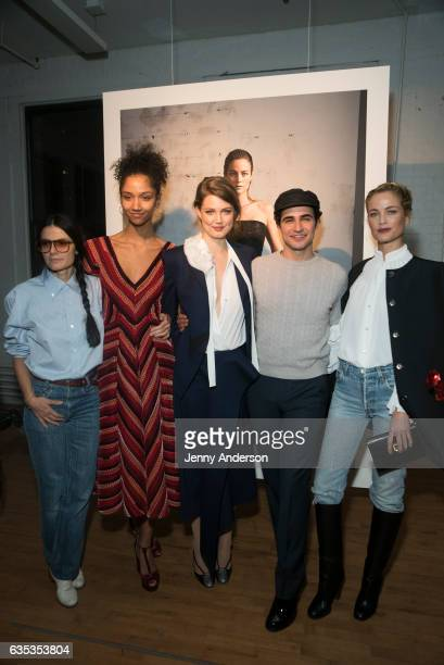Vanina Sorrenti Aiden Curtis Lindsey Wixson Zac Posen and Carolyn Murphy attend Zac Posen Exhibition during New York Fashion Week on February 14 2017...