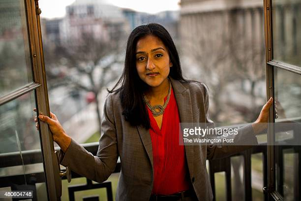 Vanita Gupta is the head of the Civil Rights Division, at her office at the Department of Justice overlooking Pennsylvania Avenue, in Washington DC...