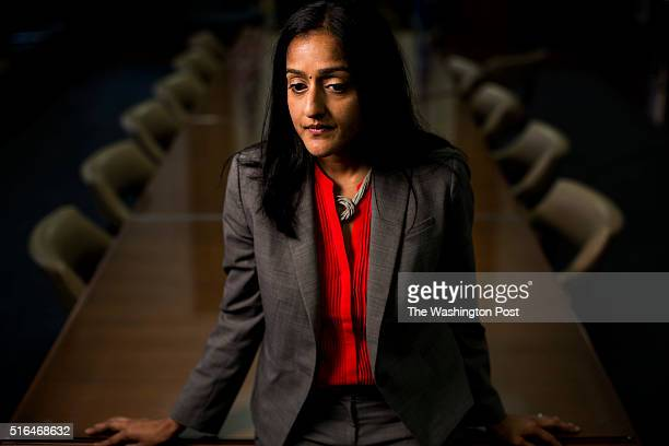 Vanita Gupta is the head of the Civil Rights Division, at her office at the Department of Justice, in Washington DC on Monday, March 16, 2015.