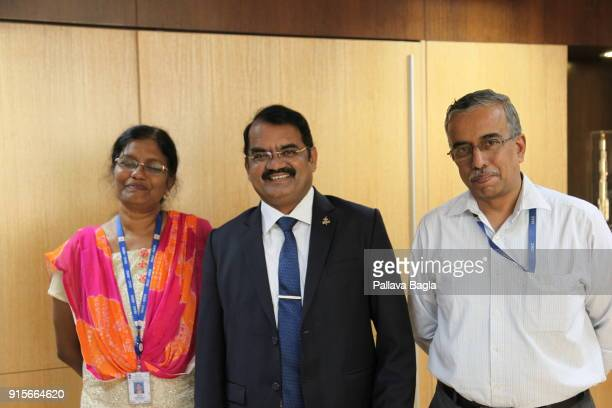 M Vanitha head of Chnadrayaan2 project Dr M Annadurai Director of the ISRO Satellite Center Bengaluru and Mr Gopalna Nagesh incharge of planetary...