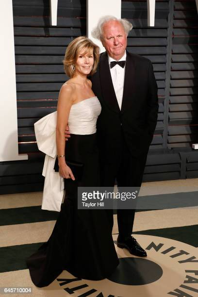 Vanity Fair editor Graydon Carter and Anna Scott attend 2017 Vanity Fair Oscar Party Hosted By Graydon Carter at Wallis Annenberg Center for the...