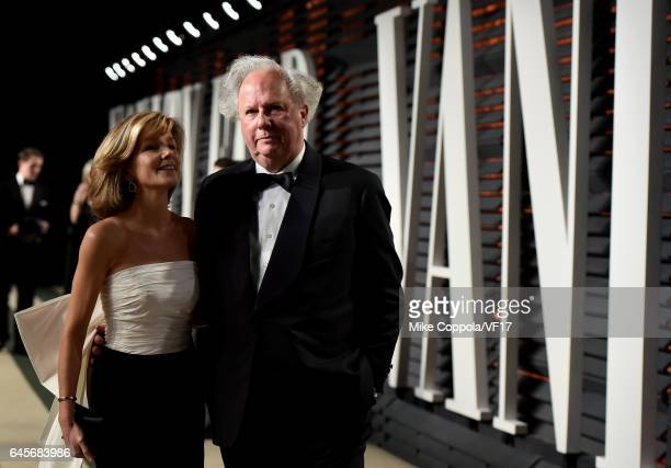 Vanity Fair editor Graydon Carter and Anna Scott attend the 2017 Vanity Fair Oscar Party hosted by Graydon Carter at Wallis Annenberg Center for the...