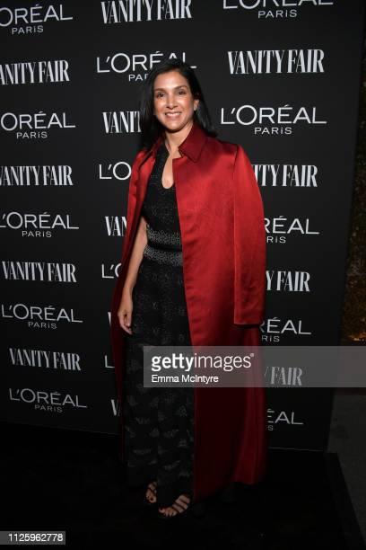 Vanity Fair Editor Radhika Jones is seen as Vanity Fair and L'Oréal Paris Celebrate New Hollywood on February 19 2019 in Los Angeles California