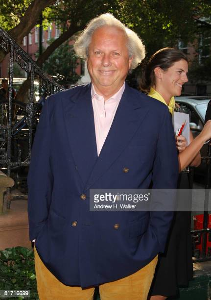 Vanity Fair editorincheif Graydon Carter attends the reception for Gonzo The Life and Work of Dr Hunter S Thompson on June 25 2008 at The Waverly Inn...