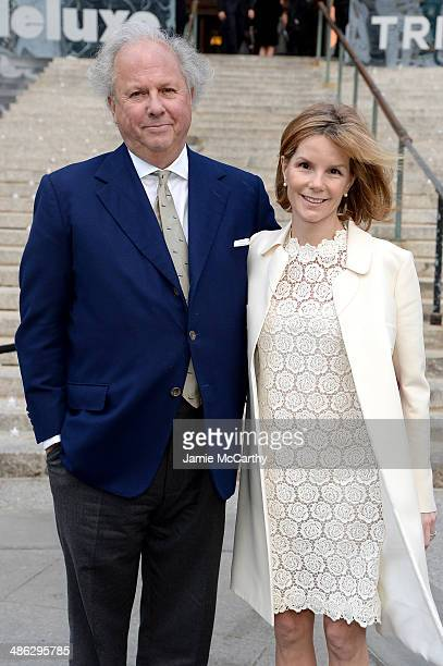 Vanity Fair EditorinChief Graydon Carter and Anna Scott Carter attend the Vanity Fair Party during the 2014 Tribeca Film Festival at the State...