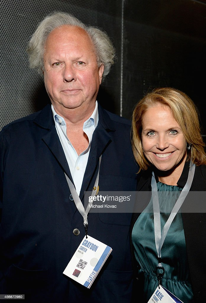 Vanity Fair Editor-in-Chief Graydon Carter and TV Journalist Katie Couric attend the Vanity Fair New Establishment Summit at Yerba Buena Center for the Arts on October 8, 2014 in San Francisco, California.