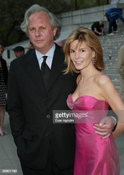 Vanity Fair EditorinChief Graydon Carter with girlfriend Anna Scott attends the Vanity Fair party at the 2004 Tribeca Film Festival at The State...