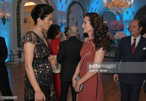 Vanity Fair EditorInChief Radhika Jones and Andie MacDowell attend the Vanity Fair party celebrating the 72nd Annual Cannes Film Festival at Hotel du...