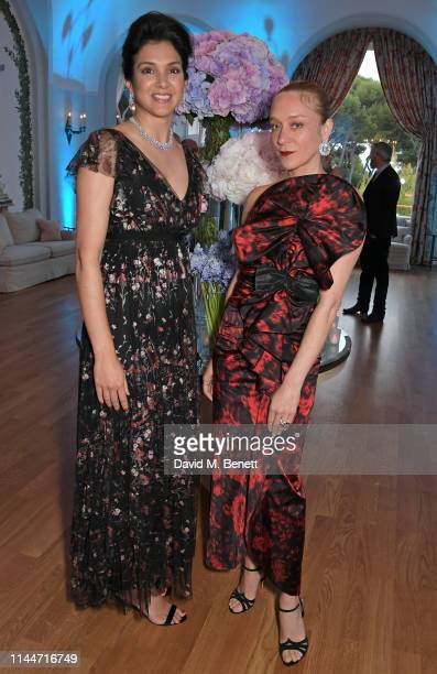 Vanity Fair EditorInChief Radhika Jones and Chloe Sevigny attend the Vanity Fair party celebrating the 72nd Annual Cannes Film Festival at Hotel du...