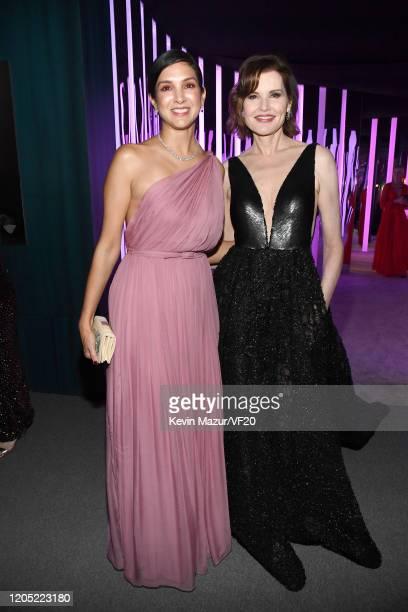 Vanity Fair Editor-in-Chief Radhika Jones and Geena Davis attend the 2020 Vanity Fair Oscar Party hosted by Radhika Jones at Wallis Annenberg Center...