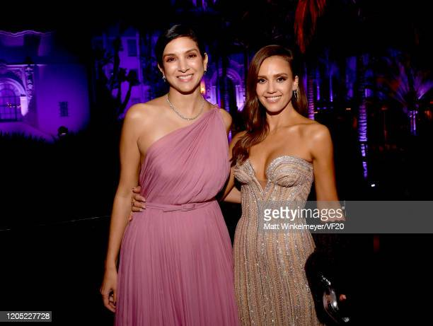 Vanity Fair Editor-in-Chief Radhika Jones and Jessica Alba attend the 2020 Vanity Fair Oscar Party hosted by Radhika Jones at Wallis Annenberg Center...