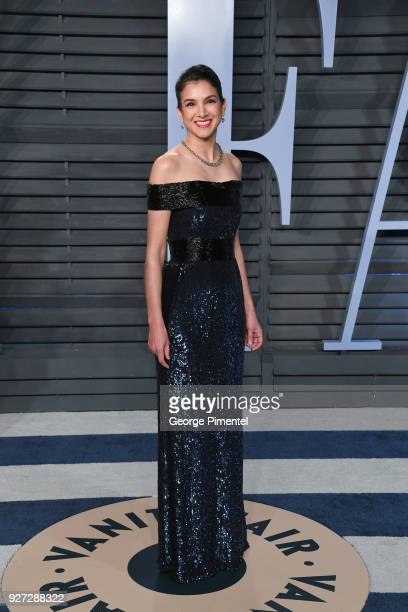 Vanity Fair EditorinChief Radhika Jones attends the 2018 Vanity Fair Oscar Party hosted by Radhika Jones at Wallis Annenberg Center for the...