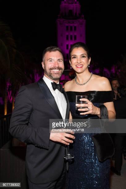 Vanity Fair EditorinChief Radhika Jones attends the 2018 Vanity Fair Oscar Party hosted by Radhika Jones at Wallis Annenberg Center for the...