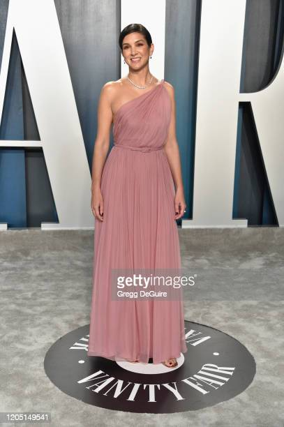 Vanity Fair EditorinChief Radhika Jones attends the 2020 Vanity Fair Oscar Party hosted by Radhika Jones at Wallis Annenberg Center for the...