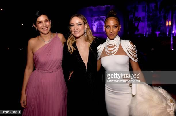 Vanity Fair EditorinChief Radhika Jones Olivia Wilde and Megalyn Echikunwoke attend the 2020 Vanity Fair Oscar Party hosted by Radhika Jones at...