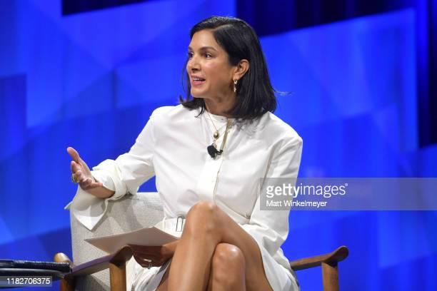 Vanity Fair EditorinChief Radhika Jones speaks onstage during 'Lights Camera Tech Storytelling in the Digital Age' at Vanity Fair's 6th Annual New...
