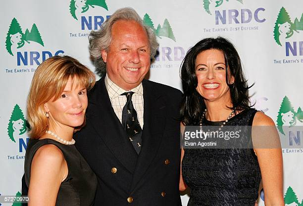 Vanity Fair Magazine Editor-in-Chief Graydon Carter and wife Cynthia Carter pose with honoree NRDC Trustee Laurie David at the Natural Resources...