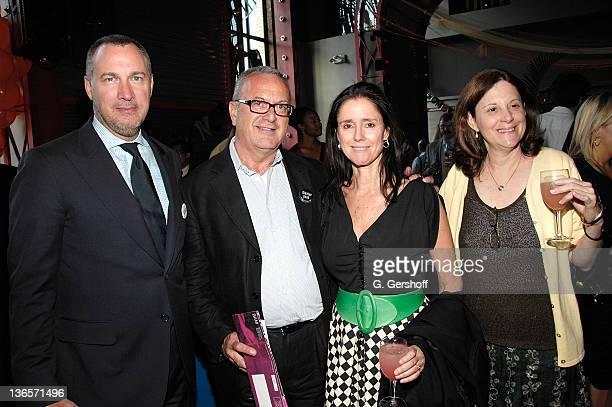 Vanity Fair magazine publisher Edward Menicheschi executive producer of BAM Joe Melillo theatre and film director Julie Taymor and BAM president...