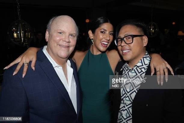 """Vanity Fair Primetime Party"""" -- Pictured: Dirk Blocker, Stephanie Beatriz, """"Brooklyn Nine-Nine""""; Nico Santos, """"Superstore"""" at The Henry in Los..."""