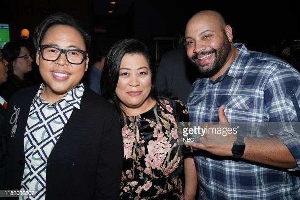 """Vanity Fair Primetime Party"""" -- Pictured: Nico Santos, Kaliko Kauahu, Colton Dunn, """"Superstore"""" at The Henry in Los Angeles, CA on November 11, 2019..."""