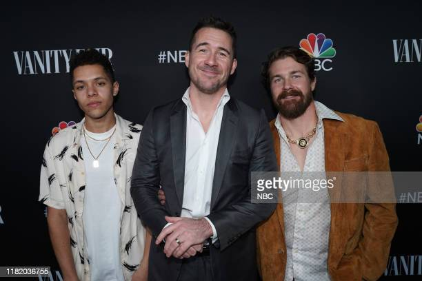 EVENTS NBC Vanity Fair Primetime Party Pictured Stony Blyden Barry Sloane Josh Kelly of Bluff City Law at The Henry in Los Angeles CA on November 11...