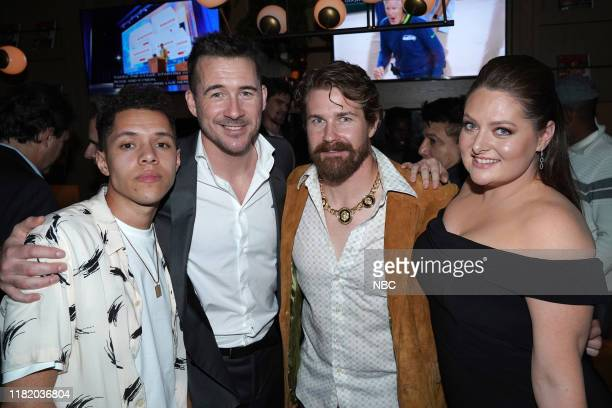 EVENTS NBC Vanity Fair Primetime Party Pictured Stony Blyden Barry Sloane Josh Kelly Bluff City Law Lauren Ash Superstore at The Henry in Los Angeles...