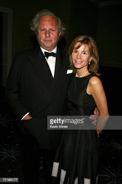 Vanity Fair Publisher Graydon Carter and Anna Carter attend the cocktaill reception during the 21st Annual American Cinematheque Award Honoring...