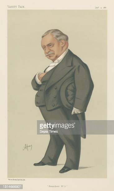 Royalty; 'President No. 3', M. Jean Baptiste Leon Say, December 4 Carlo Pellegrini, 1839–1889, Italian Chromolithograph.