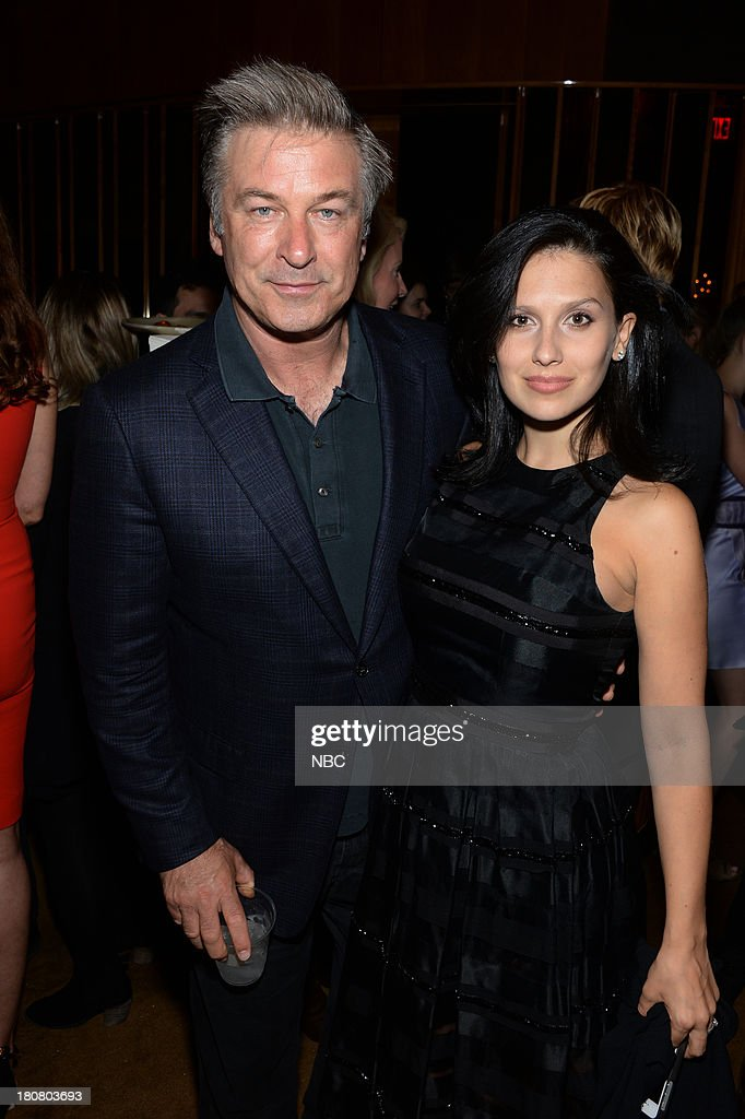 EVENTS -- 'NBC & Vanity Fair Toast the 2013 Launch' -- Pictured: (l-r) Alec Baldwin '30 Rock', Hilaria Thomas Baldwin during the NBC & Vanity Fair Toast the 2013 Launch party at Top of The Standard in New York City on Monday, September 16, 2013 --