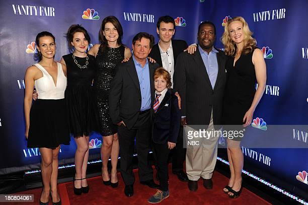 EVENTS 'NBC Vanity Fair Toast the 2013 Launch' Pictured Ana Nogueira Juliette Goglia Betsy Brandt Michael J Fox Conor Romero Jack Gore Wendell Pierce...
