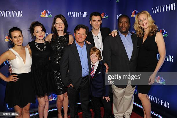 EVENTS 'NBC Vanity Fair Toast the 2013 Launch' Pictured Ana Nogueira Juliette Goglia Betsy Brandt Michael J Fox Conor Romero Jack Gore Wendell Pierce...