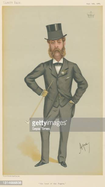 Turf Devotees; 'The Head of the Pagets', The Marquis of Anglesey, September 18 Carlo Pellegrini, 1839–1889, Italian Chromolithograph.