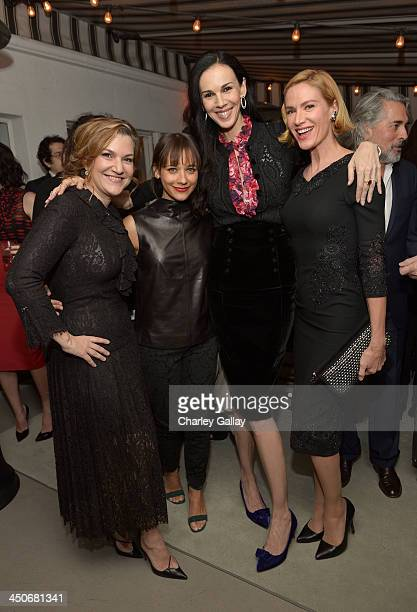 Vanity Fair West Coast Editor Krista Smith actress Rashida Jones fashion designer L'Wren Scott and actress Kelly Lynch attend the launch celebration...