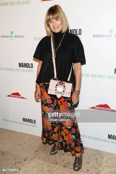 Vanity Fair writer Anne McNally attends the premiere of Manolo The Boy Who Made Shoes for Lizards hosted by Manolo Blahnik with The Cinema Society on...