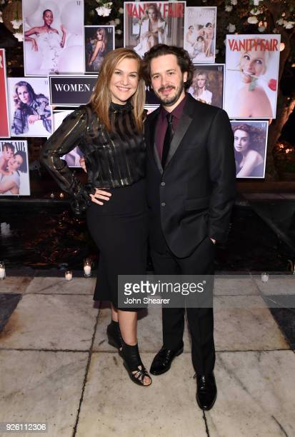 Vanity Fair's Executive West Coast Editor Krista Smith and Edgar Wright attend Vanity Fair and Lancome Paris Toast Women in Hollywood hosted by...
