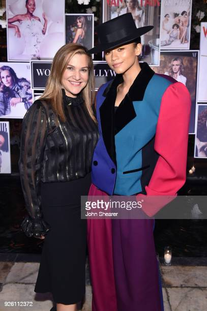 Vanity Fair's Executive West Coast Editor Krista Smith and Zendaya attend Vanity Fair and Lancome Paris Toast Women in Hollywood hosted by Radhika...