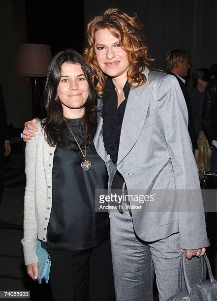 Vanity Fair's Sara Switzer poses with actor and comedian Sandra Bernhard during The Cinema Society and The Wall Street Journal after party for Away...