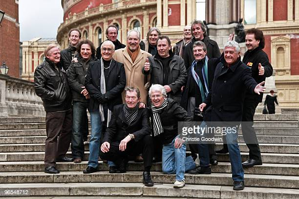 Vanity Fare, Brian Poole, Peter Sarstedt, The Troggs, The Swinging Blue Jeans, Dave Berry and Mike Pender attend a photocall launching The Solid...