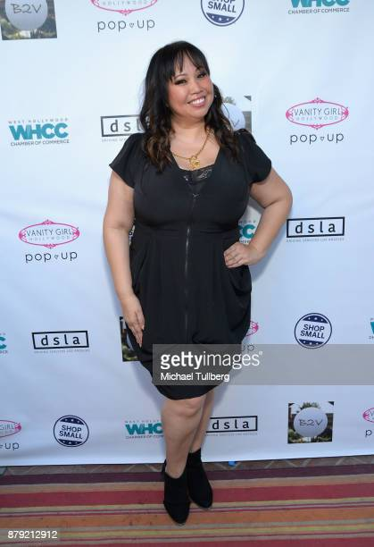 Vanity Girl Hollywood CEO Maxine Tatlonghari attends a Small Business Saturday 'Stars Shop Small for WeHo' event at B2V Salon on November 25 2017 in...