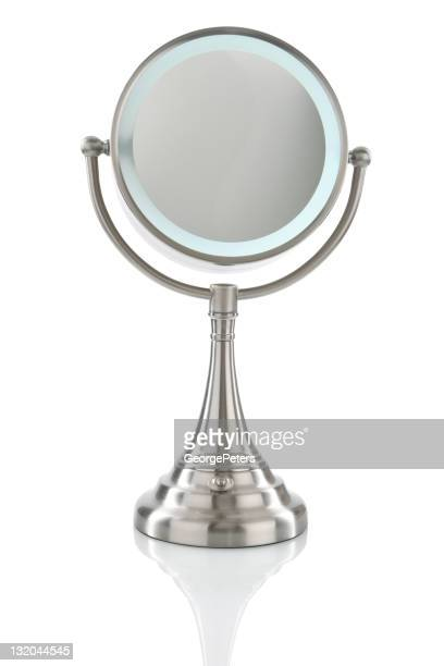Vanity Mirror Isolated on White with Clipping Path