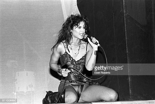 Vanity performing with Vanity 6 at Radio City Music Hall in New York City on March 21 1983